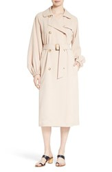 Tibi Women's Twill Belted Long Trench Coat