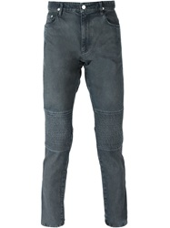 Kenzo Ribbed Panel Slim Fit Jeans Blue