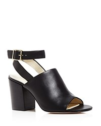 Bettye Muller Polish Ankle Strap Mule Sandals Black
