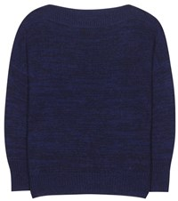 Etoile Isabel Marant Grace Alpaca Wool And Linen Blend Sweater Blue