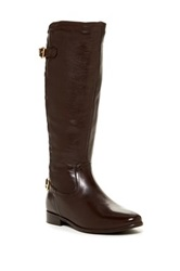 Catherine Malandrino Emma Quilted Riding Boot Brown