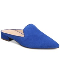 Franco Sarto Samanta 2 Pointed Toe Mules Women's Shoes Cobalt Suede