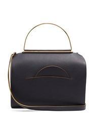 Roksanda Ilincic Signature Leather Bowling Bag Navy