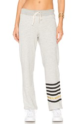Sundry Stripe Sweatpant Gray