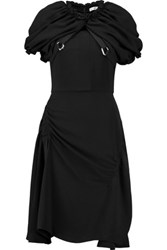 J.W.Anderson Ruched Crepe Mini Dress Black