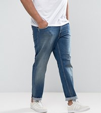 bc537f926 Tommy Hilfiger Big And Tall Bleecker Slim Jeans In Mid Wash Blue