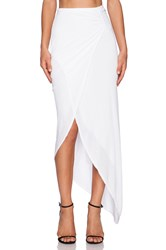 Michael Stars Asymmetrical Drape Skirt White