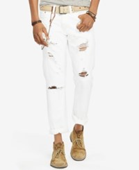 Denim And Supply Ralph Lauren Slim Fit Destructed Jeans Coolidge White
