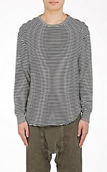 Nsf Men's Striped Long Sleeve T Shirt Black Blue Black Blue
