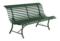 Fermob Louisiane Bench Rosemary Textured Small 59 In Width White