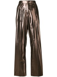 Alberta Ferretti Wide Leg Trousers Brown