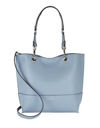 Calvin Klein Reversible Leather Satchel And Clutch Set Robins Egg Blue