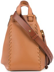 Loewe Hammock Laced Bag Leather Brown