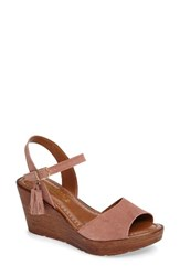 Bella Vita Women's Ali Wedge Sandal Blush Suede