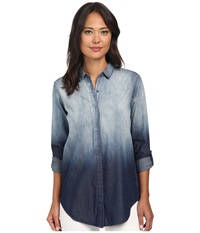 Calvin Klein Jeans Denim Beach Tunic Ombre Sky Women's Blouse Black