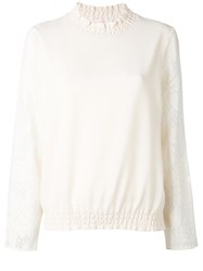See By Chloe Sleeve Panel Blouse Nude Neutrals