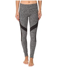 Beyond Yoga Side Mesh Contrast Leggings Black White Spacedye Women's Workout Gray