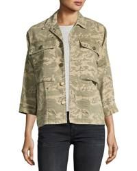 Current Elliott The Militia Camo Army Jacket Broken Camo Green
