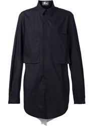 Lost And Found Oversized Cargo Shirt Black
