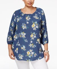 Styleandco. Style Co. Plus Size Floral Print Top Only At Macy's Flower Girl