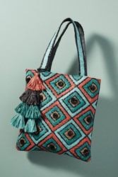 Anthropologie Tamati Tote Bag Turquoise