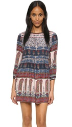 Twelfth St. By Cynthia Vincent Lace Back Mini Dress Folklore Stripe