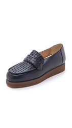 Maison Martin Margiela Crepe Sole Loafers Blue Navy