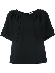 Osman Draped Shortsleeves T Shirt Black