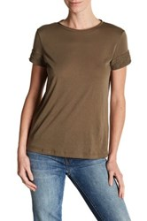 Helmut Lang Cotton And Cashmere Tee Green