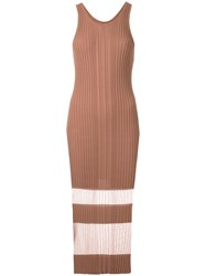 Dion Lee Opacity Tank Dress Brown