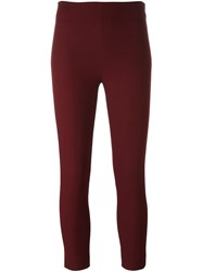 Joseph Cropped Trousers Red