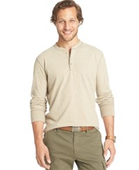 G.H. Bass And Co. Long Sleeve Henley T Shirt Plaza Taupe Heather