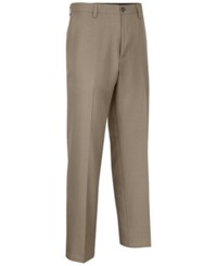 Greg Norman For Tasso Elba Men's Big And Tall Heathered Golf Pants Khaki Heather