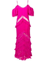 Amen Cold Shoulder Gown Pink