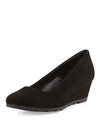 Sesto Meucci Fadiana Suede Wedge Black