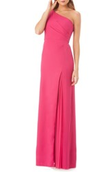 Kay Unger One Shoulder Gown Lipstick