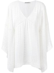 Martha Medeiros Embroidered Lucy Kaftan White