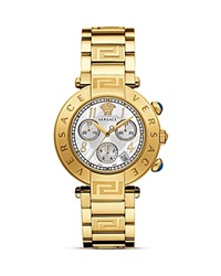 Versace Reve Chronograph Stainless Steel And Gold Pvd Watch 40Mm Yellow Gold