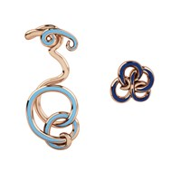 1986 Wiggle Wiggle Twist And Hug Baby Blue And Rose Blue Rose Gold