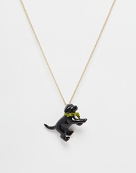 And Mary Boxed Porcelain Puppy Necklace Gift Goldblack