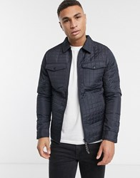Produkt Quilted Jacket In Navy