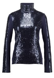 Patrizia Pepe Long Sleeved Top Navy Dark Blue