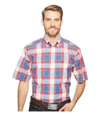 Ariat Mathis Shirt Red Lacquer Men's Short Sleeve Button Up