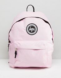 Hype Badge Backpack Baby Pink
