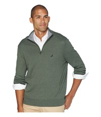 Nautica 12 Gauge 1 4 Zip Sweater Pine Forest Heather Green