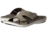 Spenco Kholo Tribal Slide Oyster Grey Men's Slide Shoes Pewter