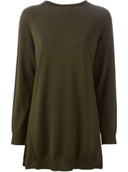 I'm Isola Marras Isola Marras Ribbed Collar Sweater Green