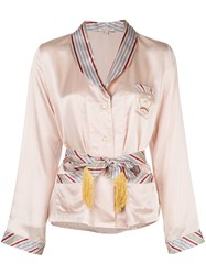 Morgan Lane Eloise Belted Shirt Pink