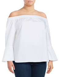 Lord And Taylor Plus Lily Off The Shoulder Top White