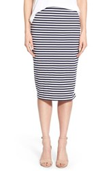 Women's Caslon Zip Detail Tube Skirt